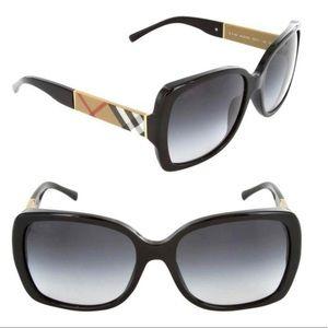 AUTH Burberry Black & Signature Check Sunglasses